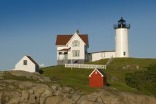 Free Nubble Light House Stock Photography - 5484322