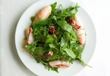 Free Roasted Squids And Rucola Stock Photography - 5484502