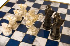 Free Fragment Of A Chess Party Stock Image - 5484581