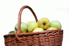 Free Green Apples In A Basket Royalty Free Stock Photo - 5484885