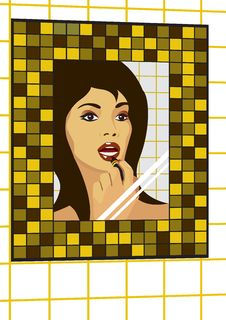 Free Woman In Mirror Stock Photos - 5484943