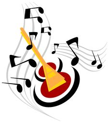 Free Illustration For Musical Guitar Royalty Free Stock Image - 5485056