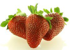 Free Close Up Shot Of Three Ripe Strawberry Royalty Free Stock Image - 5485206