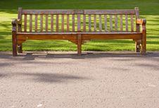 Free Wooden Bench In Edinburgh Park, Alone Stock Image - 5486271