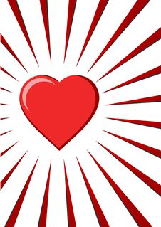 Free Red Heart On White Background Stock Photography - 5486692