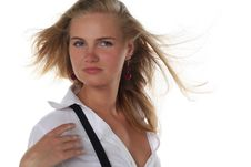 Free Portrait Of Young Blond Woman Stock Image - 5486951