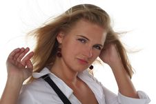 Free Portrait Of Young Blond Woman Stock Photo - 5487040