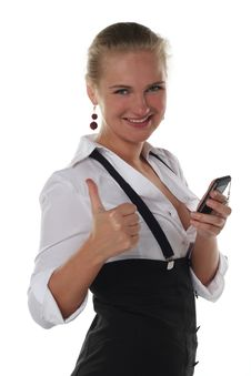Business Woman With Ok Stock Photography