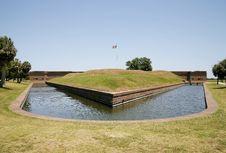 Free Fort Pulaski Moat Stock Image - 5487891