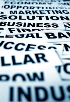 Free Business New Headlines Royalty Free Stock Image - 5488306