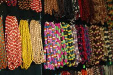 Free Necklaces In Market Royalty Free Stock Image - 5488446