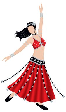 Free Tribal Belly Dancer Stock Photography - 5488532