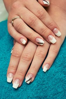 Free French Manicure. Royalty Free Stock Photography - 5488757