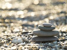 Free Stones On The Beach Royalty Free Stock Image - 5488776