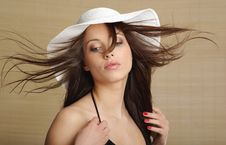 Free Portrait Of Summer Woman Royalty Free Stock Image - 5488916