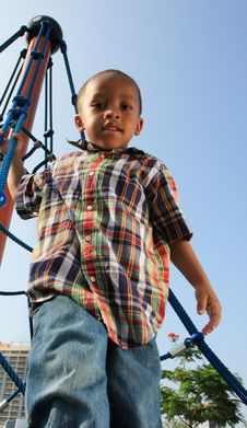 Boy At The Top Stock Photography