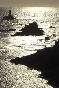 Free Britanny Rocks Sunset Stock Image - 5489421