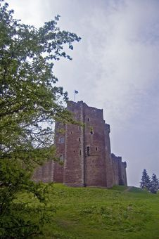 Free Scottish Castle On The Hill Royalty Free Stock Image - 5489566