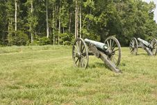 Free Civil War Cannons Stock Image - 5489971