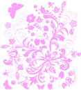 Free Light Pink Floral Pattern Royalty Free Stock Photography - 5491517