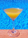 Free Glass On Pool Edge Royalty Free Stock Photos - 5495308