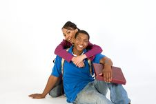 Free Two Students Embracing - Horizontal Royalty Free Stock Photography - 5490197
