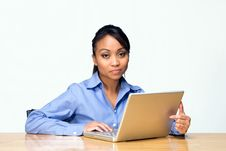 Student With Laptop Looks Bored - Horizontal Stock Photos