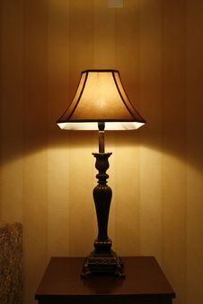 Free Switch On Table Lamp Stock Photography - 5490512