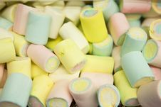 Free Multi-colored Marshmallow Pile Royalty Free Stock Photo - 5491055