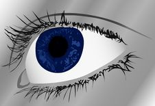 Free Illustration Woman Blue Eye Stock Photo - 5491520