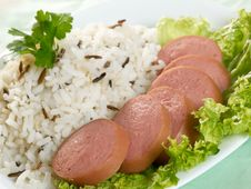 Free Sausage With Rice Royalty Free Stock Photos - 5491538