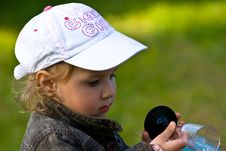 Free Young Girl Playing With The Cup Royalty Free Stock Photos - 5491568