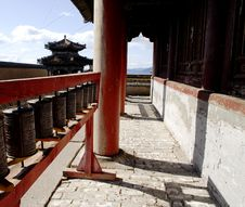Free Prayer Wheels At Amarbayasgalant Monastery Stock Photo - 5491770