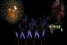 Free Multi-color Firework Stock Photos - 5491863