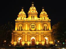 Free Catholic Church In Beijing China Stock Photography - 5491882