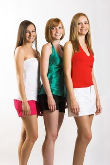 Free Three Smiling Beautiful Woman Stock Photography - 5491962