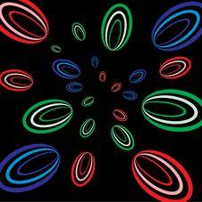 Cosmic Flying Circles. Royalty Free Stock Photo