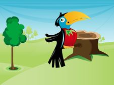Free Parrot Near Cut Tree Stock Photos - 5492743