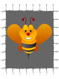 Free Smilling Bee Royalty Free Stock Image - 5492866