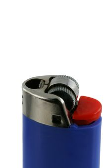 Free Isolated Blue Cigarette Lighter Royalty Free Stock Photography - 5493267