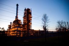 Industrial Oil Works Stock Photos