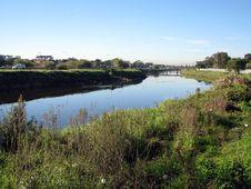 Free River Through Urban Setting Royalty Free Stock Image - 5493976