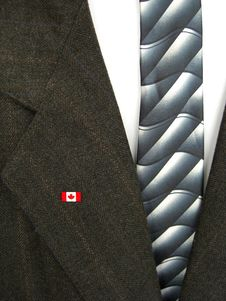 Free Canadian Flag On Coat Stock Photography - 5494492