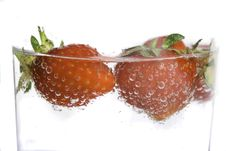 Free Strawberry Splash Stock Photography - 5494912