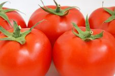 Free Tomatoes Close-up Royalty Free Stock Images - 5495359
