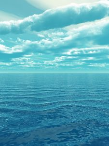 Free Sea Sky Royalty Free Stock Photos - 5495508