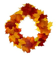 Free Autumn Wreath Frame Stock Photography - 5495662