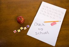 Free Back To School Royalty Free Stock Photography - 5495777