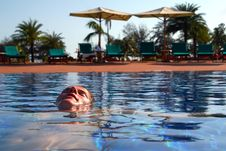 Free Relaxing In The Pool Royalty Free Stock Photo - 5496655