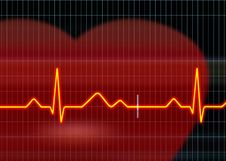 Free Cardiogram Illustration Stock Images - 5497324